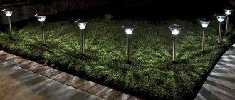 Выбор освещения для сада