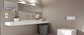Освещение и розетки в ванной комнате