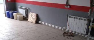 Самостоятельное проведение отопления в гараж
